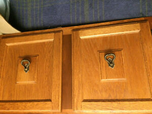 Oak door cabinet frames, ten doors