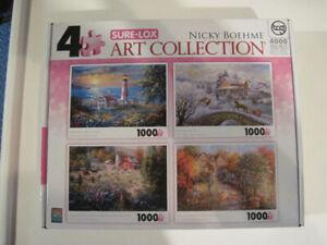 Casse-tête, 4 x 1000 pièces, Art Collection