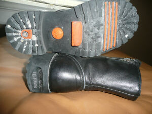 Harley Davidson Black Leather Ankle Double Zipper Boots Kitchener / Waterloo Kitchener Area image 3