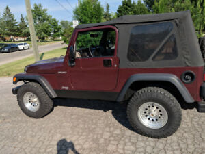 2003 Jeep TJ sport 4.0l manual 2 tops and light bars $7500