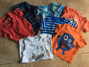 Baby boy 3-6 mth short sleeve shirts and onesies