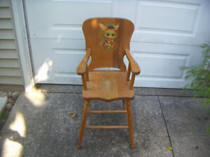 Vintage novelty high chair