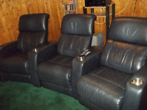 Complete Home Theatre Room + Leather theatre seating + Movies