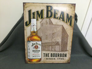 New Jim Beam Tin Sign