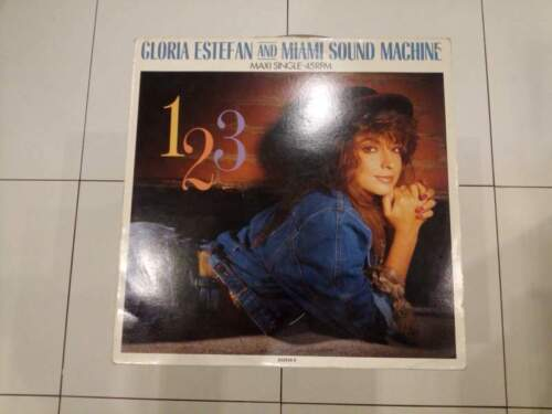 "Gloria estefan ""123"" maxi single 45giri"