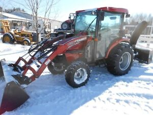 40 hp COMPACT TRACTOR CAB LOADER BUCKET SNOW BLOWER