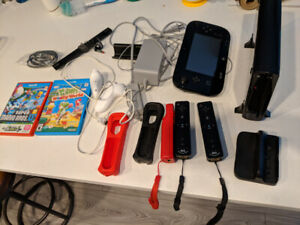 Nintendo Wii U - Console and games - 140$