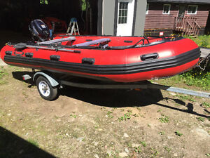 14 ft seamax 430t inflatable boat