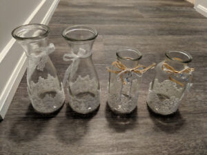 28 Mason jars with lace (Can be used for wedding centerpieces)