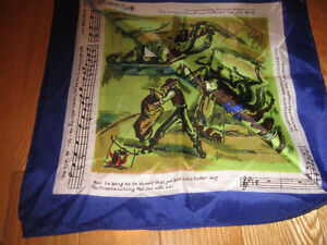 "BEAUTIFUL ""WALTZING MATILDA"" SILK SCARF [WORDS & MUSIC]"