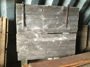 "71"" x 73"" barn door headboard"