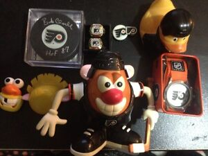 Philadelphia Flyers lot ring pin auto puck hockey cards toys