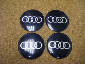 4x AUDI Emblem Wheel Centre Cap STICKER Logo Badge Wheel Trims55