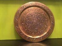 Antique Hand Carved Indian Brass Set