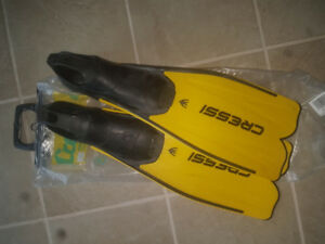 Diving/snorkeling fins size 9