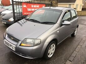 CHEVROLET KALOS 1.2 (2008) ** 59000 MILES** MOT AUGUST 17 , WARRANTY £995