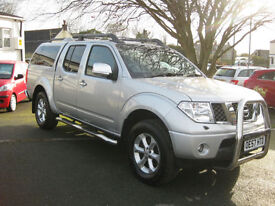 2007/57 Nissan Navara 2.5 dCi Outlaw Double Cab Pickup with SNUG TOP~NO VAT