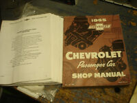 1955 Chev manuals and other vintage op/manuals