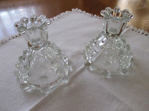 Imperial Glass Candlewick candle holders