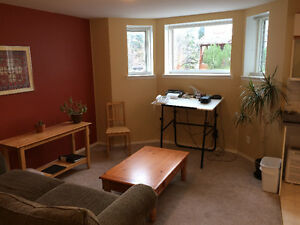 Bright, sunny 1 bedroom Basement suite for June or July 1