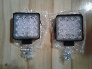 pair new 4inch square led lights