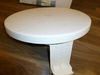"""Table ronde blanche 20"""""""