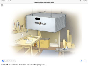 Ceiling Dust Collector Filter (wanted)