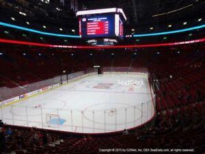 2 billet ROUGE Canadiens Montreal tous les match en bas cost