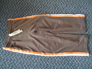 Boys Size 5/6 Brown and Orange Track Pants