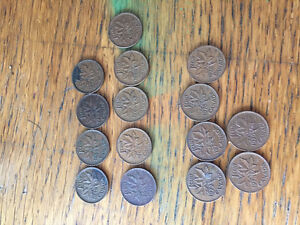 Old Canadian Pennies