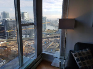 Cozy furnished 2bed 1bath+ den with water view in yaletown