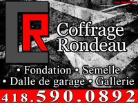 Coffrage Rondeau