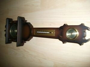 Vintage West German Analog Barometer, Hygrometer, Thermometer