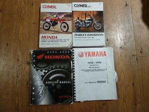 Honda, Harley Davidson, Yamaha Service Manuals