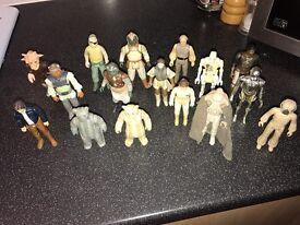 Star Wars 16 vintage figures