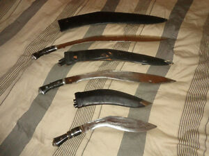 3 collectable vintage military Kukri