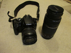 Canon Rebel XTI with18-55  and extra battery