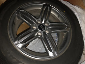 Audi rims and snows for Q5 for sale.