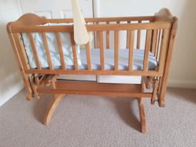 Mothercare Swinging crib bundle