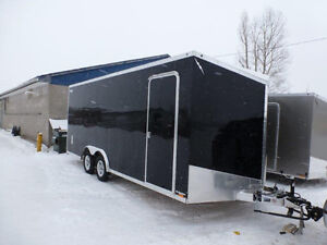 2017 ALL ALUMINUM 8 1/2 X 20 WITH FINISHED INTERIOR AND ETRAC