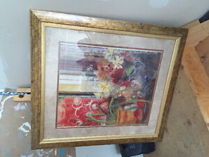 Large frame with art
