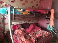Metal frame twin bed
