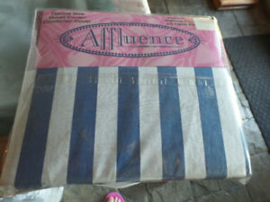 Double duvet cover, blue & white stripe, new