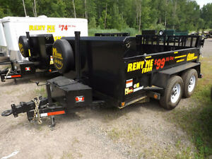 Heavy Duty Dump Trailer Rentals at Miska Trailers