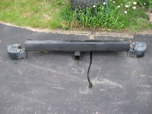 Rear Jeep Bumper with Hitch Plate