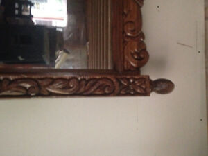 Hand carved mirror large