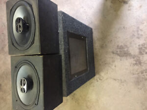 Sub and box and speakers