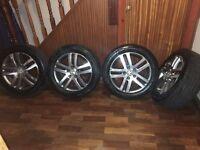 16 inch 5x112 genuine Volkswagen Jetta Golf etc alloys 2 good tyres