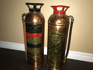 Antique fire extinguisher from montreal