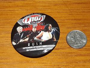 RUSH 2007 Toronto Concert promo Button